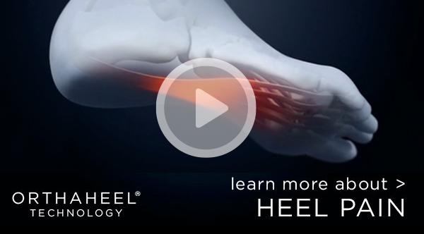 Video on how Orthaheel Technology helps reduce heel pain
